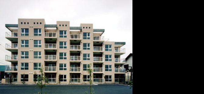 つくばヒルズ, 茨城県つくば市松代, 敷地 1,945.00㎡, 延床 1,834.76㎡, RC造/地上5階建, 施工 日産建設, 平成11(1999)年3月